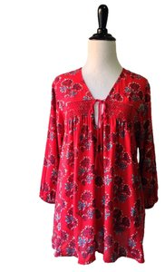 Plenty by Tracy Reese Top Red Pattern