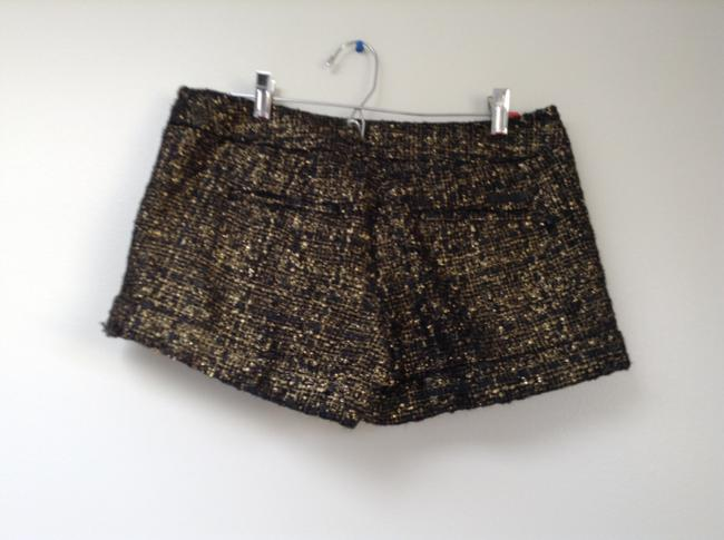 Express Women's Gold Black Dressy Sexy 2 Small Shimmer Shorts Black, Gold