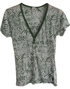 prAna Made In Usa Laser Cut Beach Breathable Yoga T Shirt Leaf
