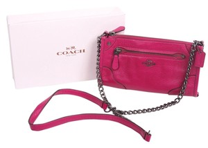 Coach Mickie Grain Leather Cross Body Bag
