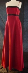 Jordan Fashions Red Cranberry Bridesmaid Formal The Lisa; With Stole Dress