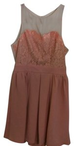 Esley short dress salmon and nude Lace Crochet on Tradesy
