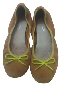 Other Lime Green and Beige Flats