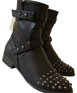 Forever 21 Studded Motorcycle Boots