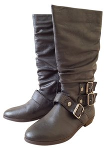 Material Girl Knee High Motorcycle Boots