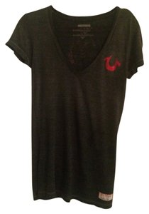 True Religion T Shirt Charcoal/black