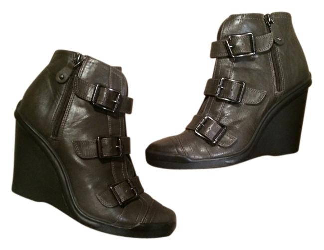 Item - Grey Buckled Ankle Sz. Boots/Booties Size US 8.5 Regular (M, B)