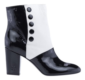 Chanel White Black Multi-Colored Boots