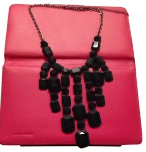 Lane Bryant Black Jewel Bib Necklace