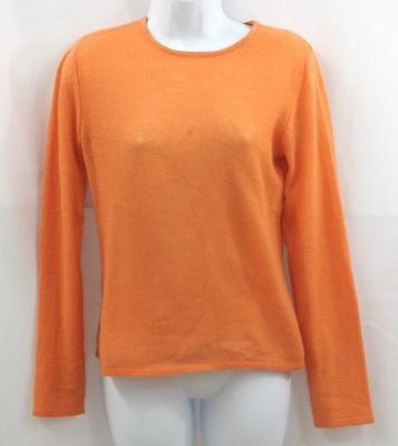 Preload https://img-static.tradesy.com/item/9759547/collection-59-orange-cashmere-silk-blend-sweaterpullover-size-2-xs-0-0-650-650.jpg