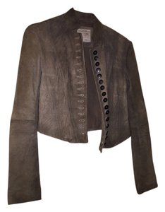 AllSaints Light Distressed Brown Leather Jacket