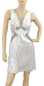 Alberta Ferretti Pleated Chain Sheer Evening Summer Dress