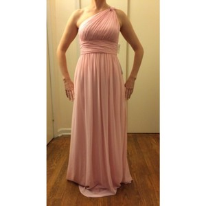 Donna Morgan Blush Chiffon Formal Bridesmaid/Mob Dress Size 4 (S)