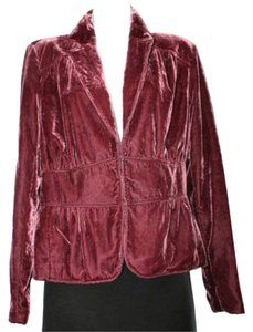 Apostrophe Velvet Jacket DARK RED-PURPLE Blazer