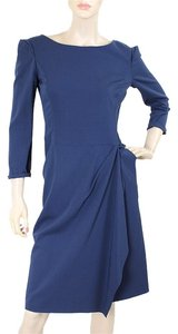 Alberta Ferretti Rayon Drape Swing Evening Dress
