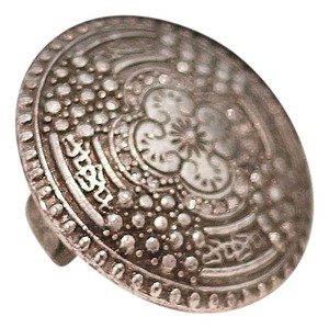 Grace Adele Adjustable One-Size Ornate Shield Medallion Ring