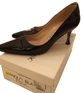 Manolo Blahnik Patent Leather Heels Blac Pumps