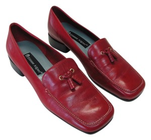 Etienne Aigner Leather Size 7.00 M Red, Pumps