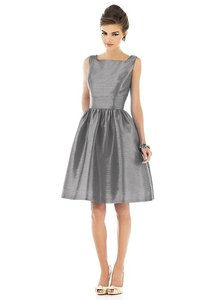 Alfred Sung Quarry/grey Style D518 Dress