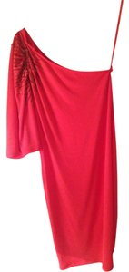 Gianni Bini One Shoulder Beaded Pink Dress
