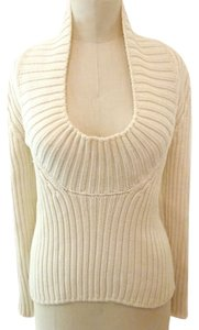 Jil Sander 100% Wool Off White Sweater