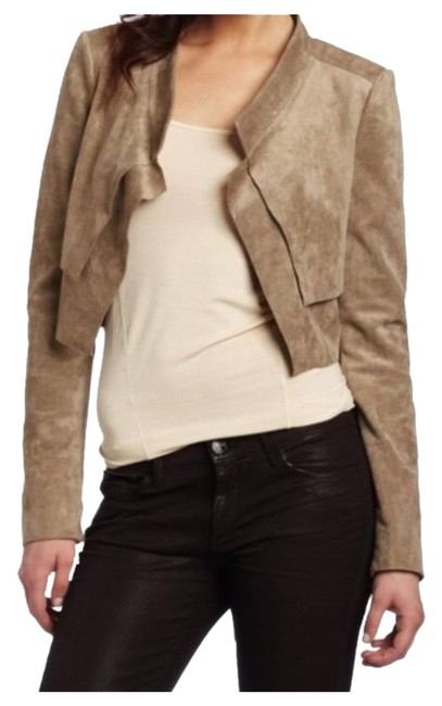 """Item - Taupe """"Norton"""" Cropped Suede Jacket Size 0 (XS)"""