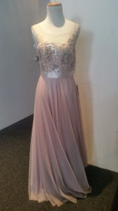 BHLDN Antique Rose Polyester/Tule/Embroidery/Sequins Lucca Maxi Modern Wedding Dress Size 2 (XS)