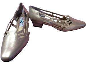 Ros Hommerson Gold Leather Flats