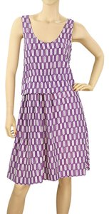 Purple, White Maxi Dress by Basso & Brooke A-line Print Spring Summer