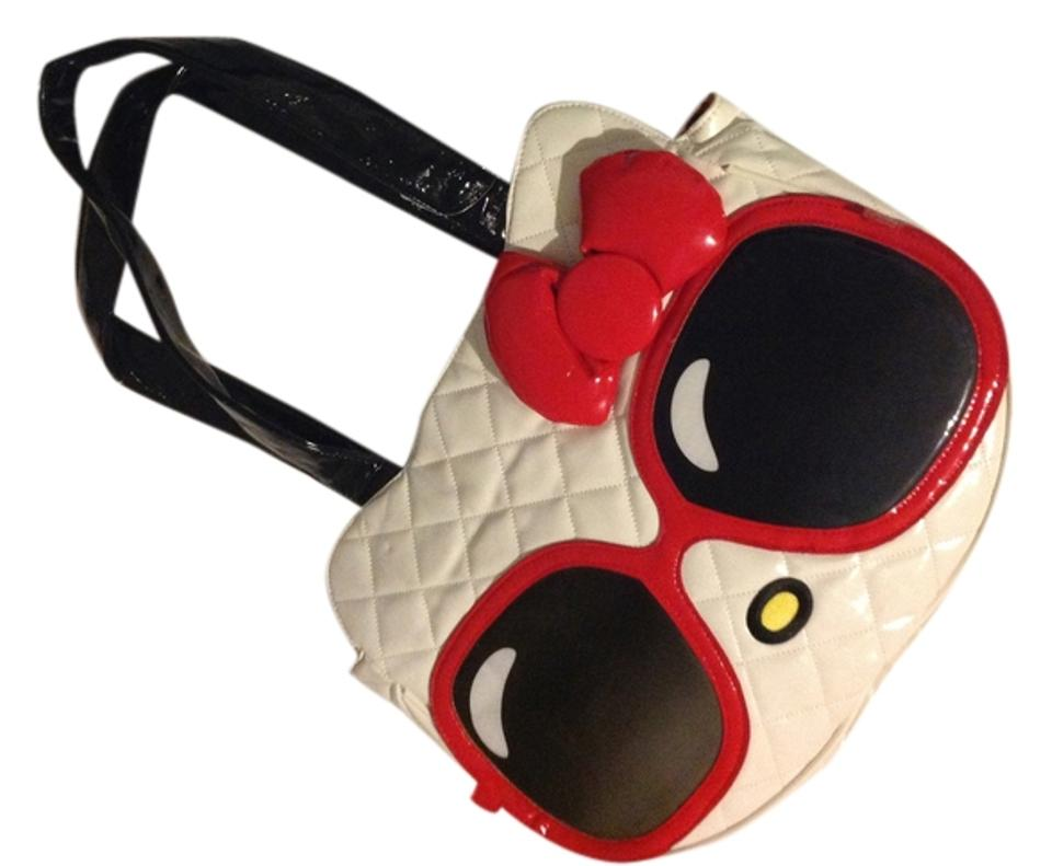 01cb2dc17fba Loungefly Hello Kitty Head Sunglass Face Quilted Tote Hobo Cute Shoulder Bag  ...