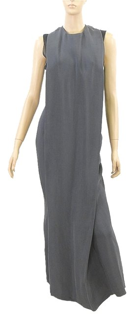 Item - Gray Collection Charcoal Crepe Genrico Gown Long Cocktail Dress Size 4 (S)