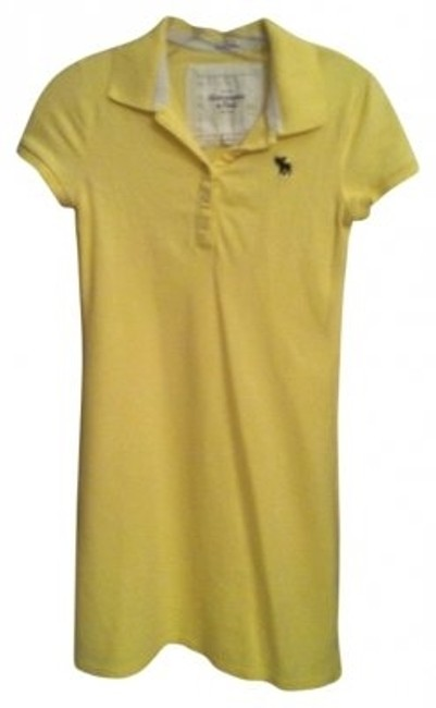 Preload https://item4.tradesy.com/images/abercrombie-and-fitch-yellow-fitted-polo-mini-short-casual-dress-size-4-s-9763-0-0.jpg?width=400&height=650