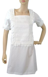 Calypso short dress White Ruffle Bib Sheath Pleated Summer Spring Mermaid on Tradesy