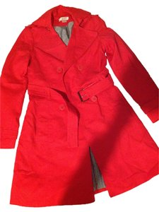 Kenar Red Trench Coat S Jacket