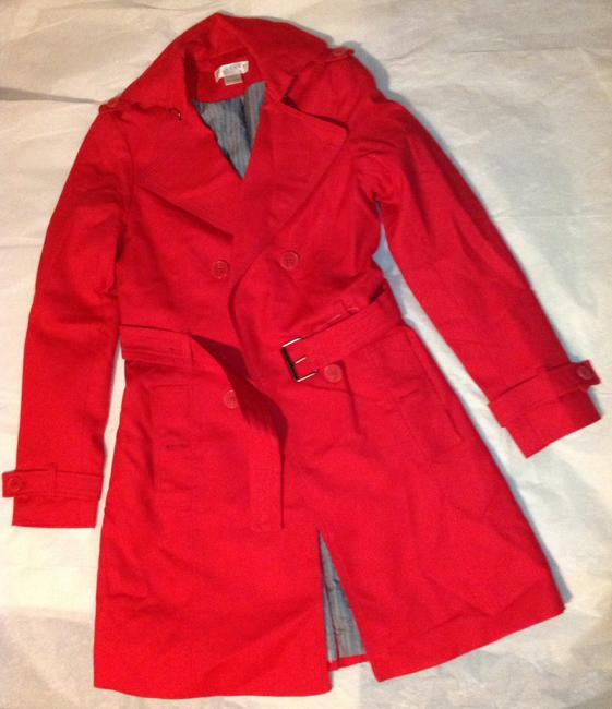 Kenar Red Trench Coat S Jacket Image 1