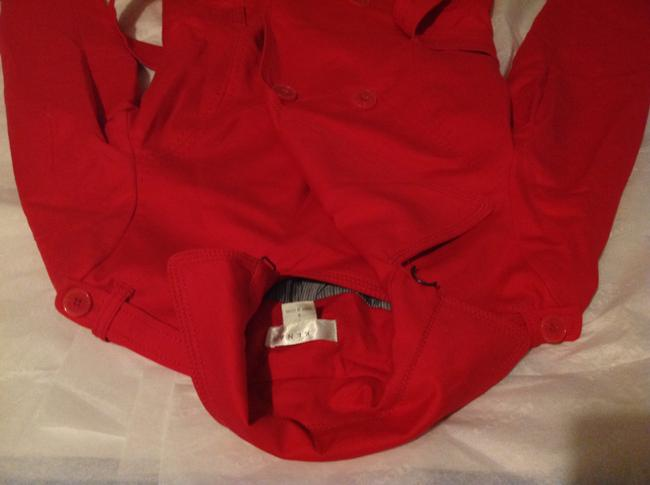 Kenar Red Trench Coat S Jacket Image 10