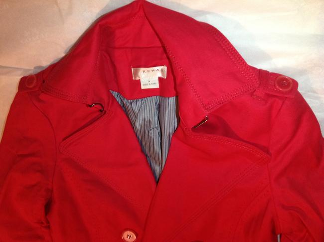 Kenar Red Trench Coat S Jacket Image 2