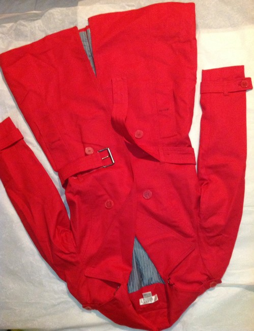 Kenar Red Trench Coat S Jacket Image 3