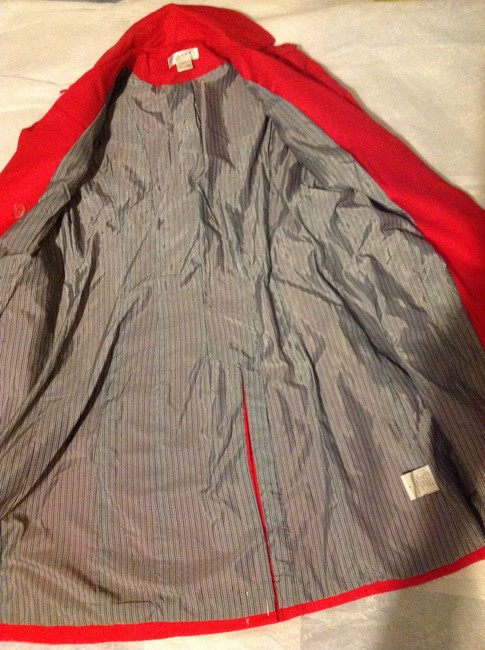 Kenar Red Trench Coat S Jacket Image 4