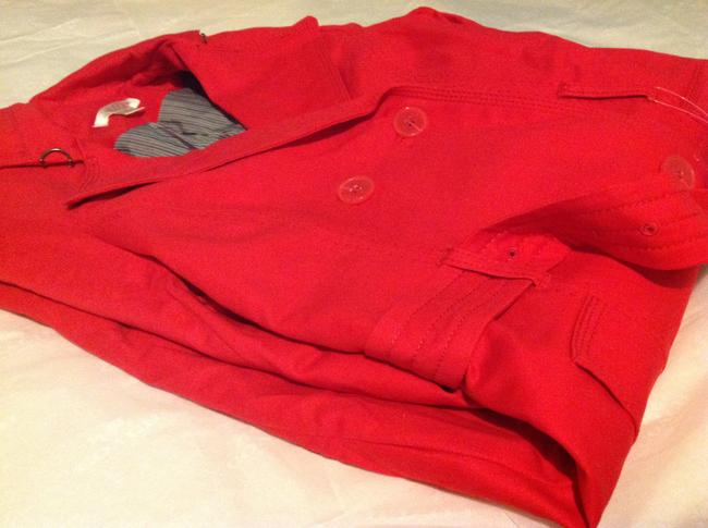 Kenar Red Trench Coat S Jacket Image 6