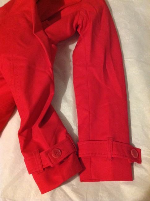 Kenar Red Trench Coat S Jacket Image 7