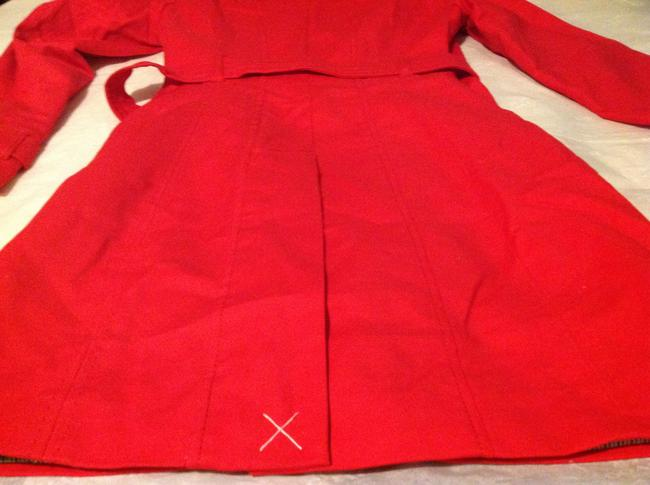 Kenar Red Trench Coat S Jacket Image 8