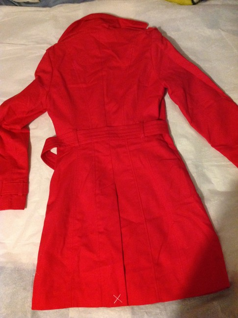 Kenar Red Trench Coat S Jacket Image 9