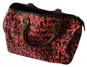 Louis Vuitton Tote in Brown/Fuchsia Stephen Sprouse