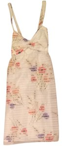 Nancy Rose Performance short dress White With Floral Pattern on Tradesy