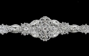 Other Victorian Bridal Brooch Art Deco Bustier Wedding Dress Sash Jewelry Crystal Belt