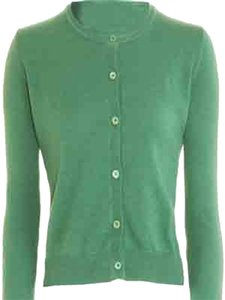 Geneva Platinum 2-ply Cashmere; Mint Green; Office Wear; Separates; Casual Cardigan