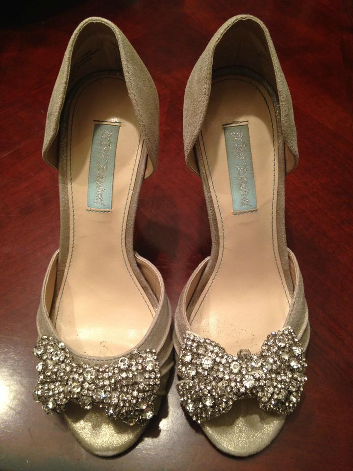Betsey Johnson Silver Blue By Gown Evening Pumps Size US 6.5 - Tradesy