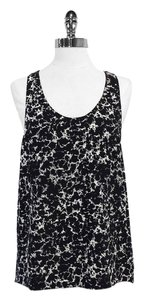 Alexander Wang Black White Print Silk Top