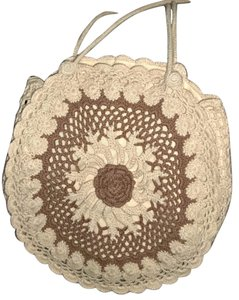 bebe Crochet Bohemian Hippie Round Shoulder Bag
